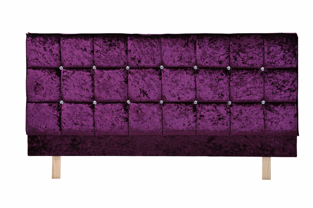 beds double headboard purple