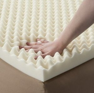 Egg Box Profile 3cm Memory Foam Topper W Pillows