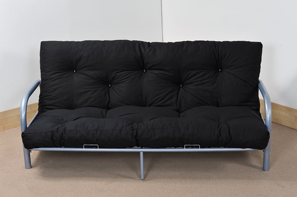 Details About Ikea Black Metal Frame Day Bed With Mattress