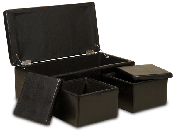 Ottoman Storage Chest 3 Piece Set